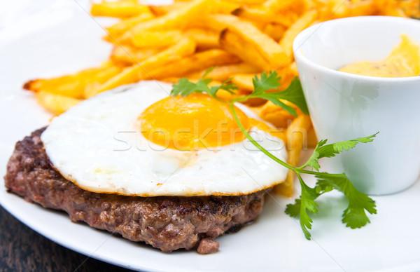 сочный стейк говядины мяса томатный картофель Сток-фото © ilolab