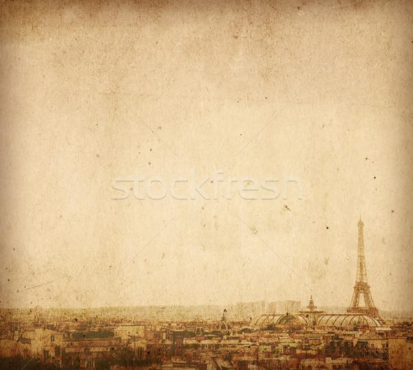 Güzel paris sokaklarda uzay metin görüntü Stok fotoğraf © ilolab
