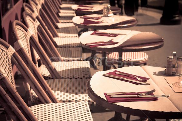 Geleneksel paris kahve teras restoran Stok fotoğraf © ilolab