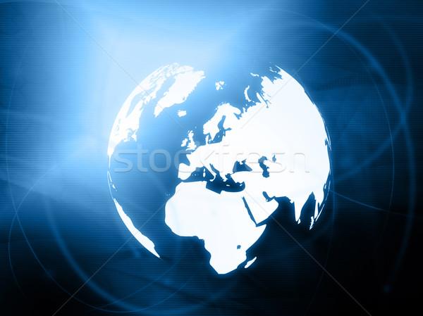 Europa kaart wereldbol abstract technologie Stockfoto © ilolab