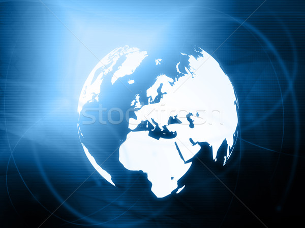 Europe map technology-style artwork Stock photo © ilolab