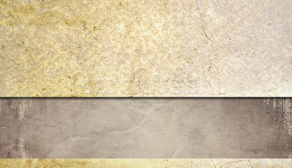 Retro névjegyek grunge kreatív papír textúra Stock fotó © ilolab
