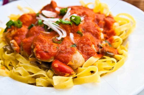 Pasta with Scallops Dinner Dish  Stock photo © ilolab