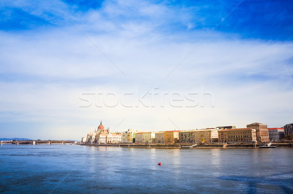 building of Parliament in Budapest Stock photo © ilolab