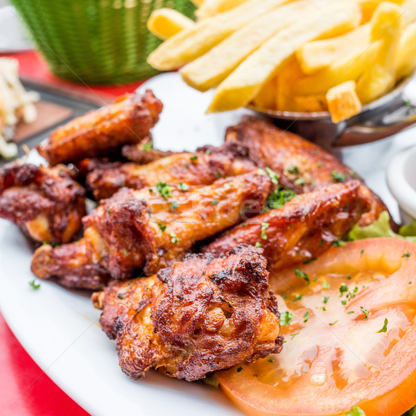 Chicken wings with sauce Stock photo © ilolab