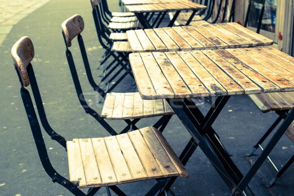 Hagyományos párizsi kávé utcakép terasz buli Stock fotó © ilolab