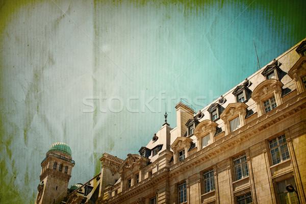 Retró stílus Párizs Franciaország űr szöveg kép Stock fotó © ilolab