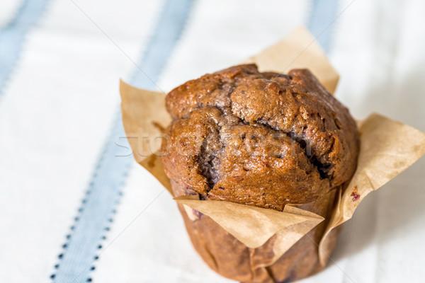 Eigengemaakt muffins papier servet dessert zoete Stockfoto © ilolab