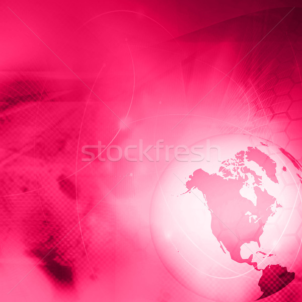 America map technology-style artwork Stock photo © ilolab