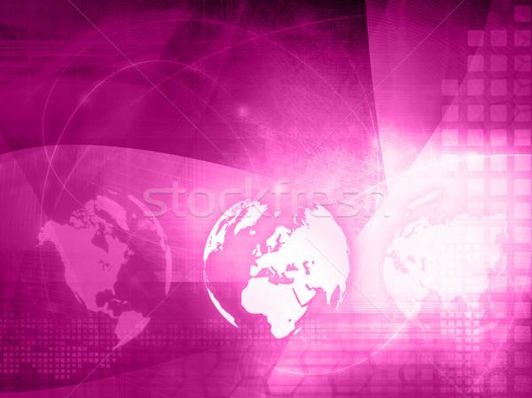 Foto stock: Europa · mapa · tecnología · estilo · red