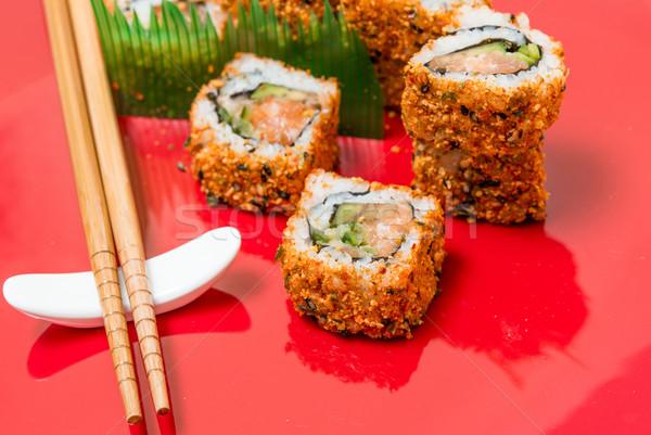 fresh sushi traditional japanese food Stock photo © ilolab