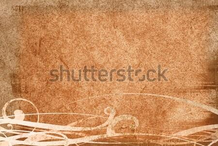 Сток-фото: Гранж · мелодия · текстуры · коричневый · фоны · пространстве