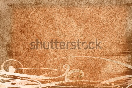 Grunge dallam textúrák barna hátterek űr Stock fotó © ilolab