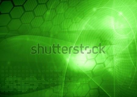 Soyut serin dalgalar ışık arka plan uzay Stok fotoğraf © ilolab