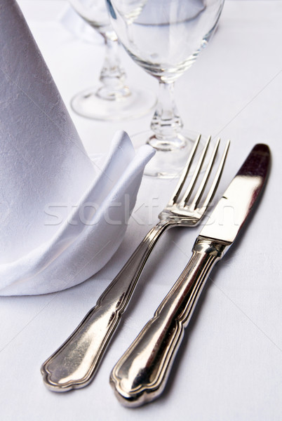 knife and fork on table Stock photo © ilolab