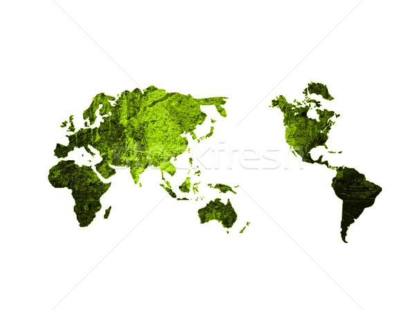 Stock photo: world map vintage artwork