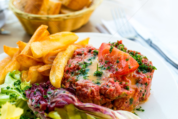 tasty tartare Stock photo © ilolab