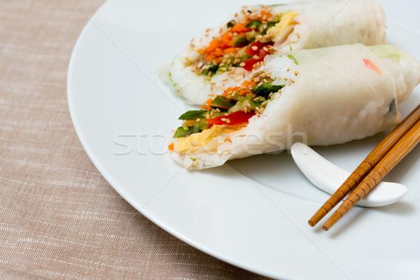 Fresche sushi tradizionale cibo giapponese tavola pesce Foto d'archivio © ilolab