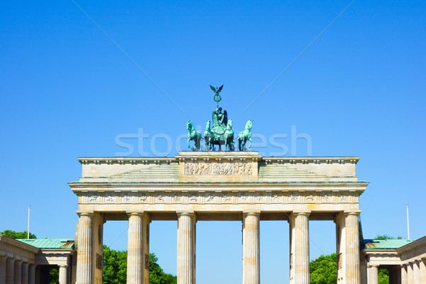 Brandenburgi kapu híres tájékozódási pont Berlin késő 18-adik század Stock fotó © ilolab