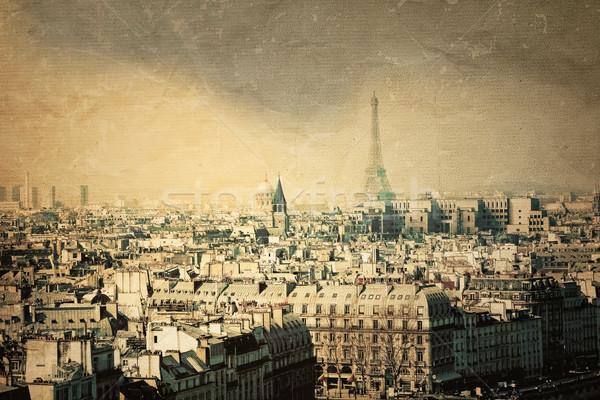 Párizs Franciaország űr szöveg kép város Stock fotó © ilolab