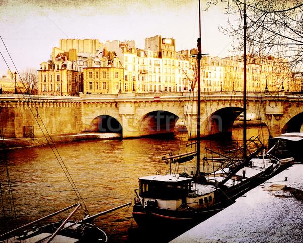 парижский улиц золото пространстве текста книга Сток-фото © ilolab