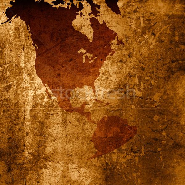 Foto stock: Ásia · américa · mapa · fundo