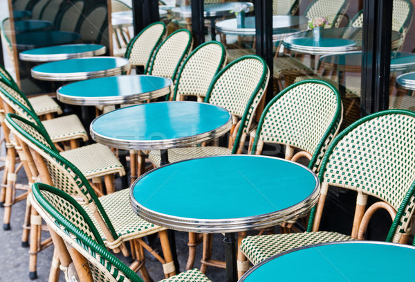 Empty Cafe terrace in paris,France Stock photo © ilolab