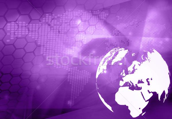 ストックフォト: ヨーロッパ · 地図 · 技術 · スタイル · 抽象的な