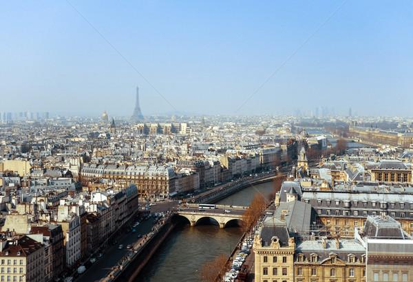 антикварная город здании Европа небе дома Сток-фото © ilolab