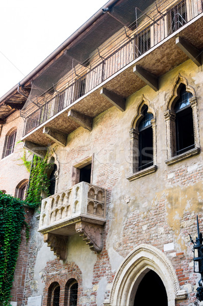 Varanda verona Itália amor edifício casa Foto stock © ilolab