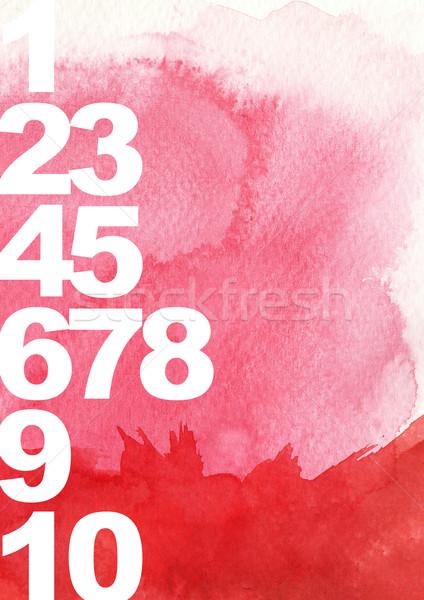 Stock fotó: Retró · stílus · számok · grunge · stílus · textúra · fal