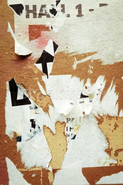 Vieux affiches grunge textures horizons mur Photo stock © ilolab