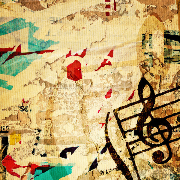 Grunge mélodie résumé textures horizons espace Photo stock © ilolab