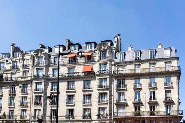 Antik város épület Párizs Franciaország Európa Stock fotó © ilolab