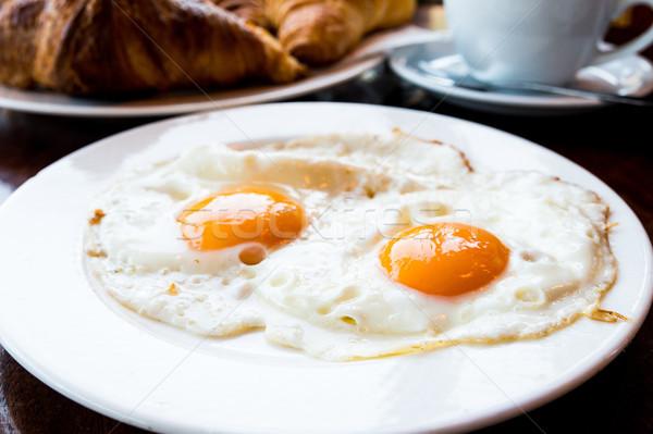 подготовленный яйцо солнце продовольствие обеда пластина Сток-фото © ilolab