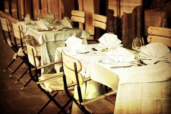 old-fashioned Cafe terrace Stock photo © ilolab
