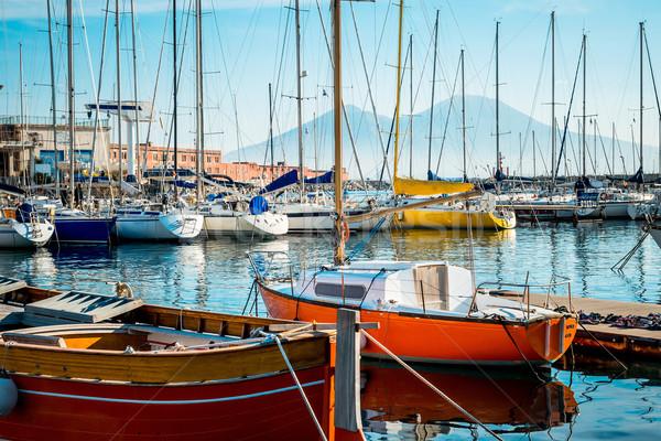 Vue sur la rue Naples port bateaux Italie Europe Photo stock © ilolab