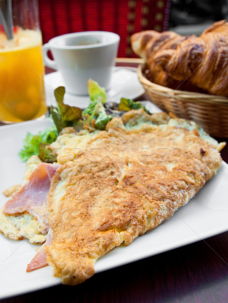 omelet with ham Stock photo © ilolab