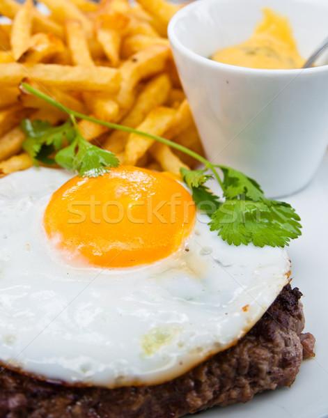 Ovo fries clássico inglês café da manhã restaurante Foto stock © ilolab