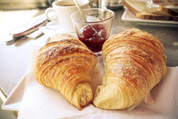 coffee and croissants Stock photo © ilolab