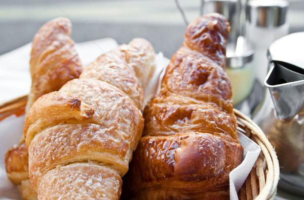 Taze kruvasan lezzetli ekmek fırın Stok fotoğraf © ilolab