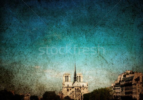 Párizsi utcák gyönyörű űr szöveg textúra Stock fotó © ilolab