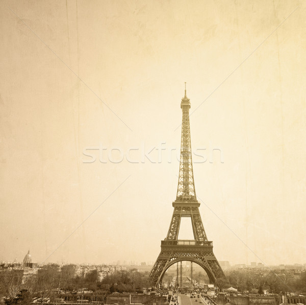 Vintage Eiffel Tower Stock photo © ilolab
