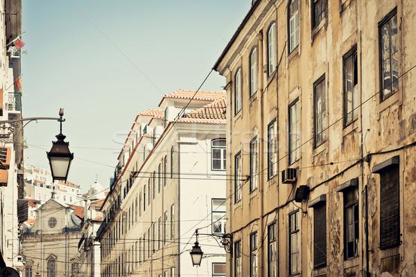 Hermosa vista de la calle histórico arquitectónico Lisboa Portugal Foto stock © ilolab