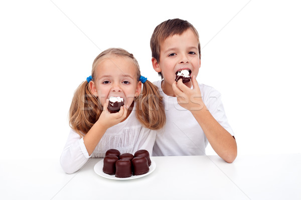 These are some fine chocolate sweets Stock photo © ilona75