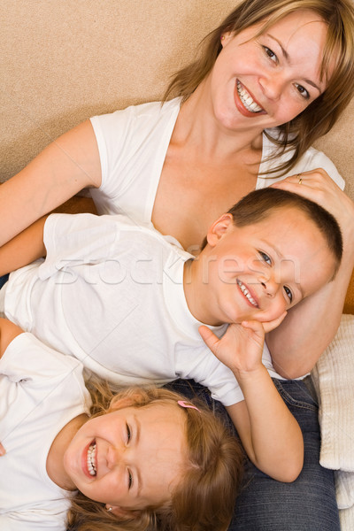 家族 ソファ 幸せな家族 リラックス 女性 少女 ストックフォト © ilona75