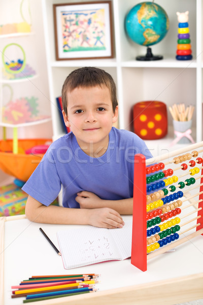Boy preparing for elementary school Stock photo © ilona75