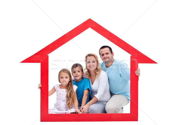 Family in their home Stock photo © ilona75