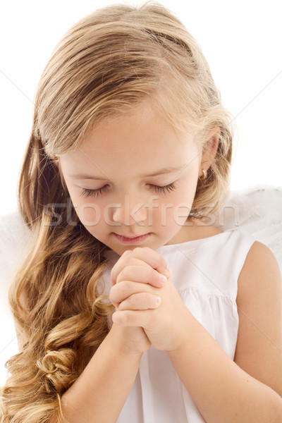 Little girl praying Stock photo © ilona75