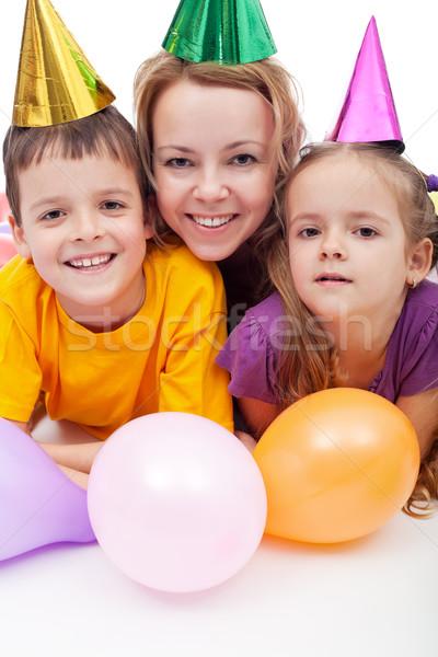Fête personnes ballons enfants enfants Photo stock © ilona75